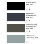 colour chart aluminium